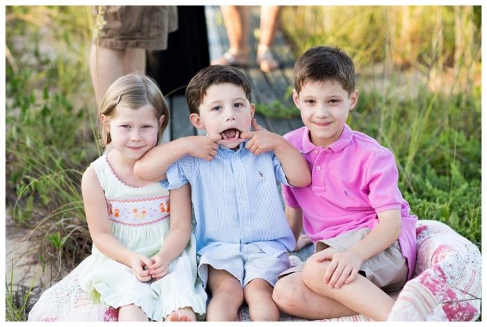 Chicks Beach Virginia Beach Family Portrait Photographer ~Carter, Aubrie, Davis & Penny are Cousins!!~