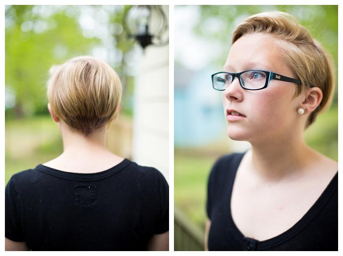 Norfolk Teen Photographer  Morgan got a NEW Haircut
